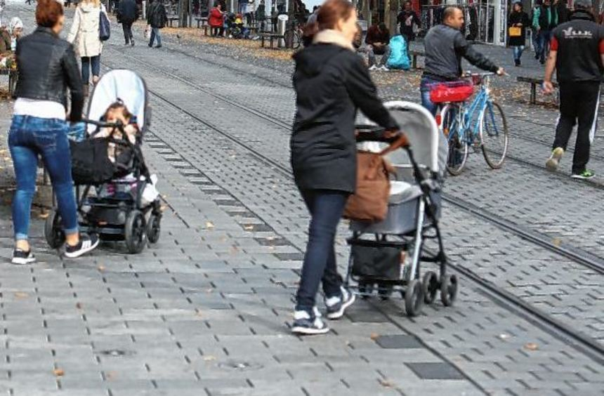 Ab Marktplatz eine eher schwierige Handelslage: die Breite Straße.