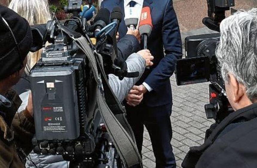 Wirtschaftsminister Volker Wissing beim Besuch in Ludwigshafen.