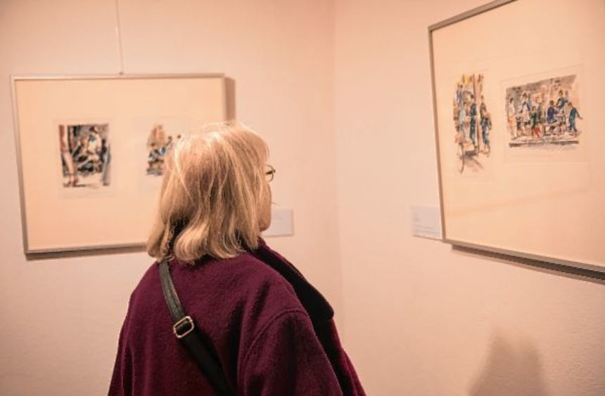 Im Museum Bensheim sind zurzeit Aquarelle des Holocaust-Flüchtlings John. H. Less zu sehen.