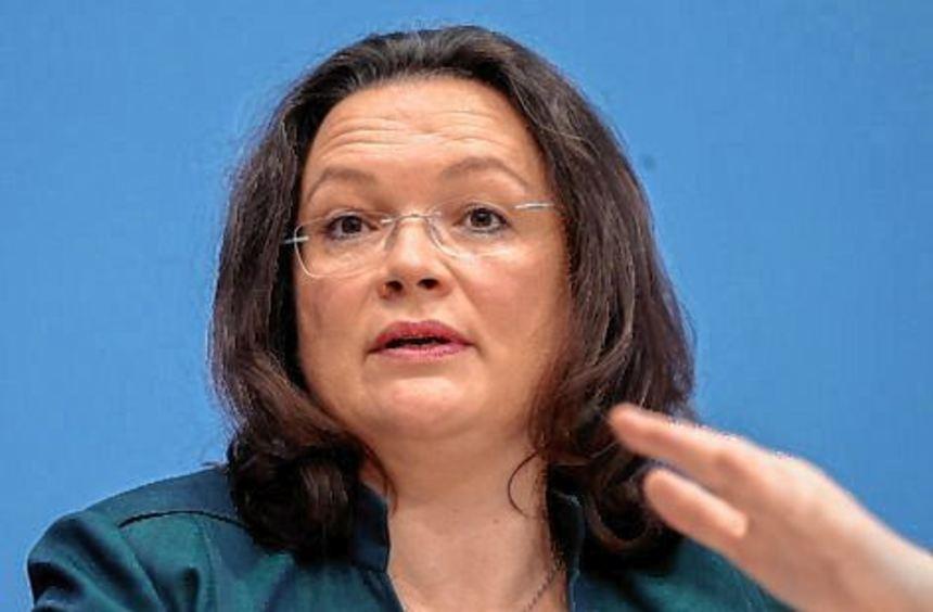 Will eine Haltelinie beim Beitragssatz der Rente: Andrea Nahles.