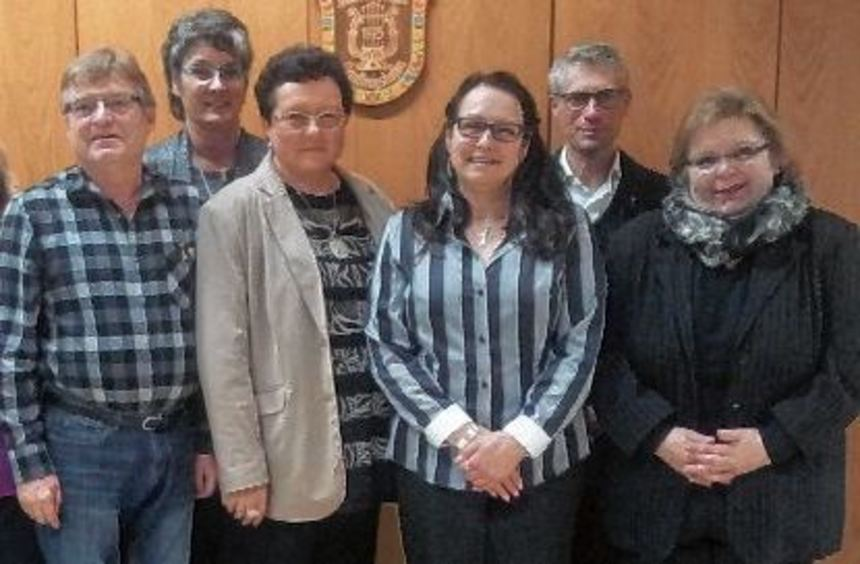 Der neue Vorstand des Katholischen Kirchenchores Königshofen (von links): Horst Bieker, Maria ...