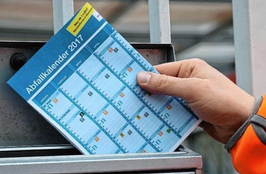 In den kommenden Wochen sollen die Abfallkalender an jeden Haushalt verteilt werden. Erstmals sind ...