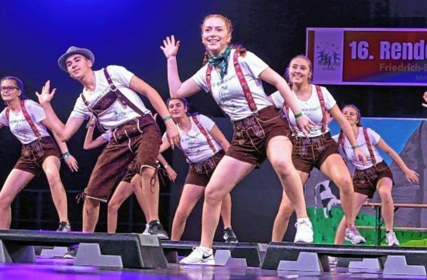 """Mit ihrem Auftritt """"Der Berg ruft"""" begeisterten die """"Bandits"""" vom VT Böhl beim """"Rendezvous der ..."""