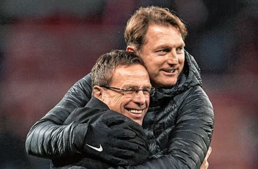 Erfolgsduo: Ralf Rangnick (l.) und RB-Trainer Ralph Hasenhüttl.