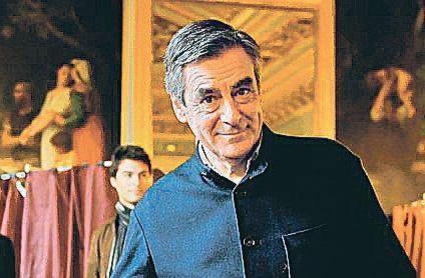 François Fillon gestern in Paris bei der Stimmabgabe.