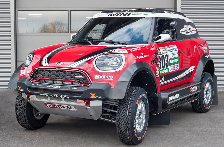 mid Groß-Gerau - Das deutsche X-raid-Team ist mit drei Mini John Cooper Works Rally (Foto) fünf ...