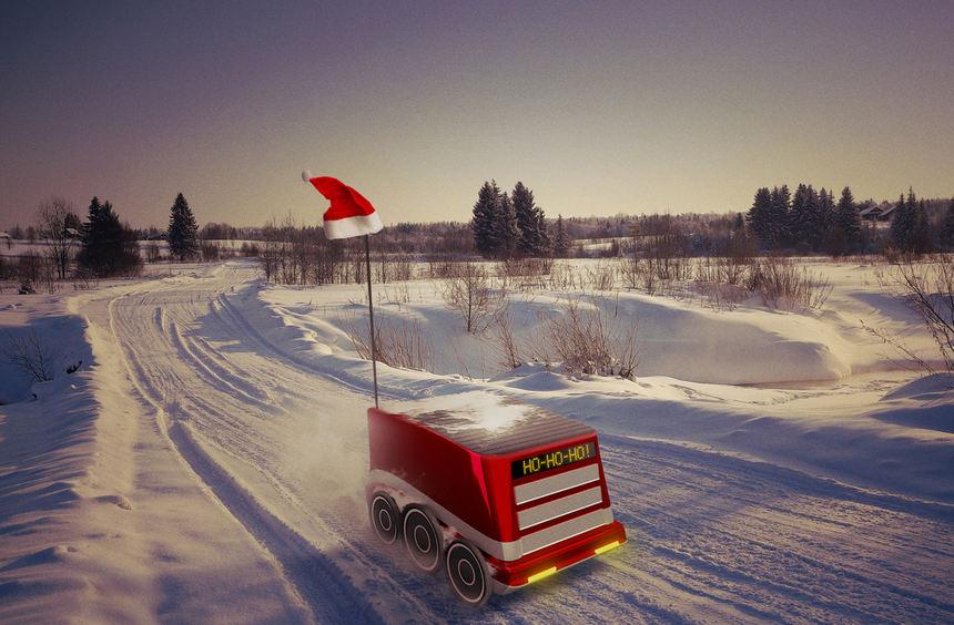mid Berlin - Nicht romantisch, aber pünktlich: Zustellroboter könnten den Weihnachtsmann schon bald ...