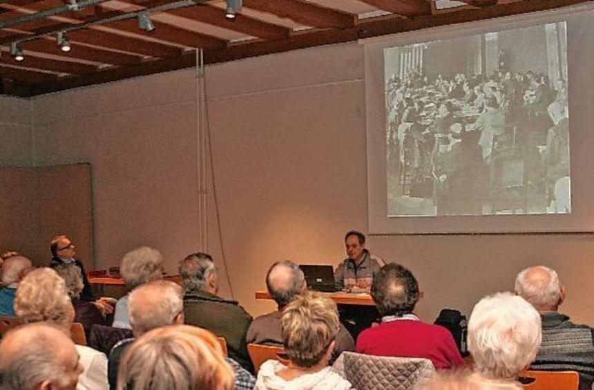 """Auf sehr großes Interesse stieß der Vortrag von Hans-Peter Wagner zum Thema """"Külsheim in den ..."""