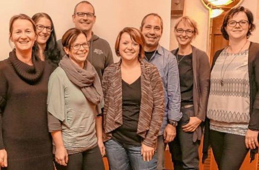 Ein(e) Vorsitzende(r) fehlt! Einige Posten wurden bereits neu besetzt (von links): Diana Sprenger, ...