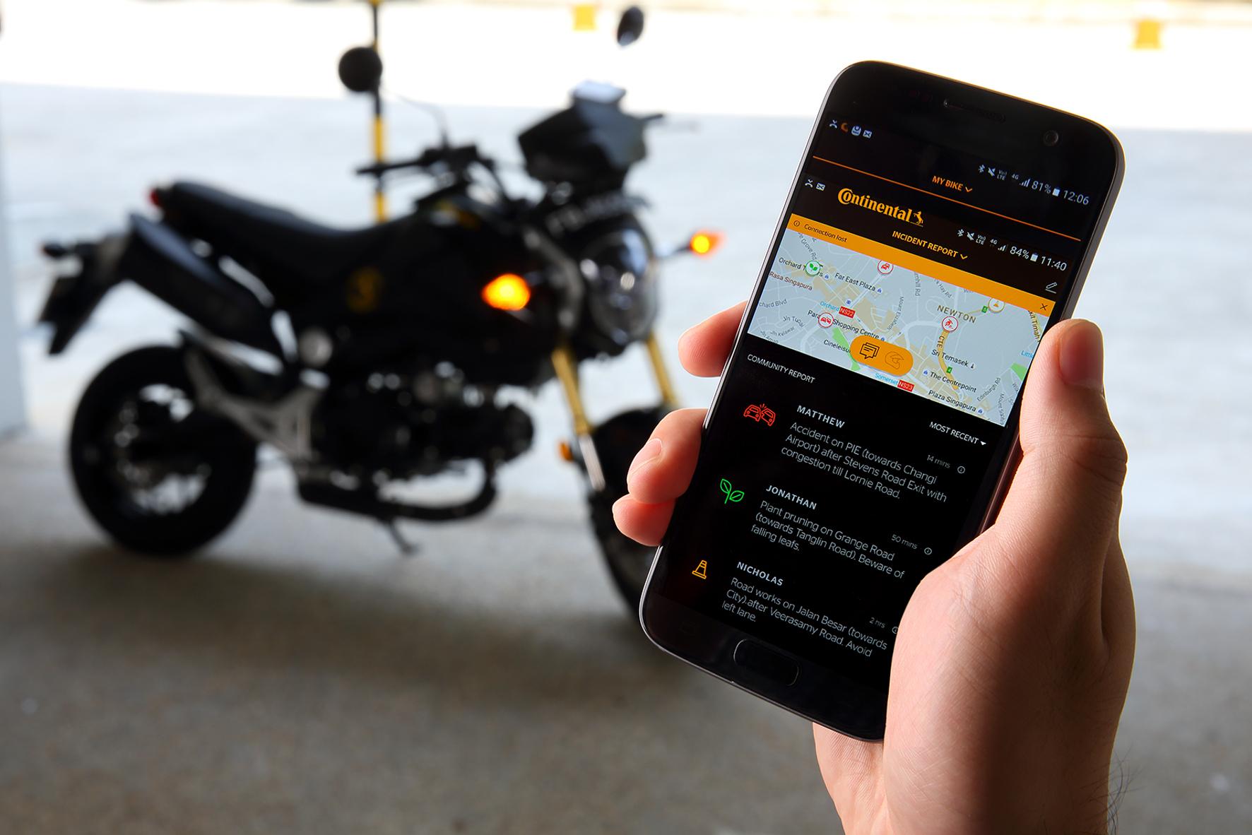 mid Groß-Gerau - Vernetzung auf dem Motorrad: Continental stattet Zweiräder mithilfe des eHorizon mit Schwarmintelligenz aus.