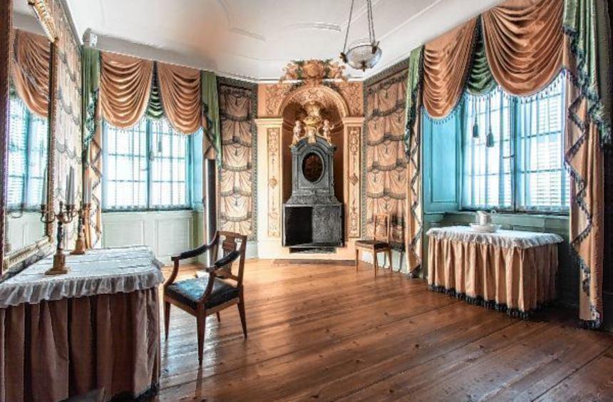 Das Schlossmuseum: Die Räume wurden in diesem Jahr saniert und renoviert wieder-eröffnet - 1991 war ...