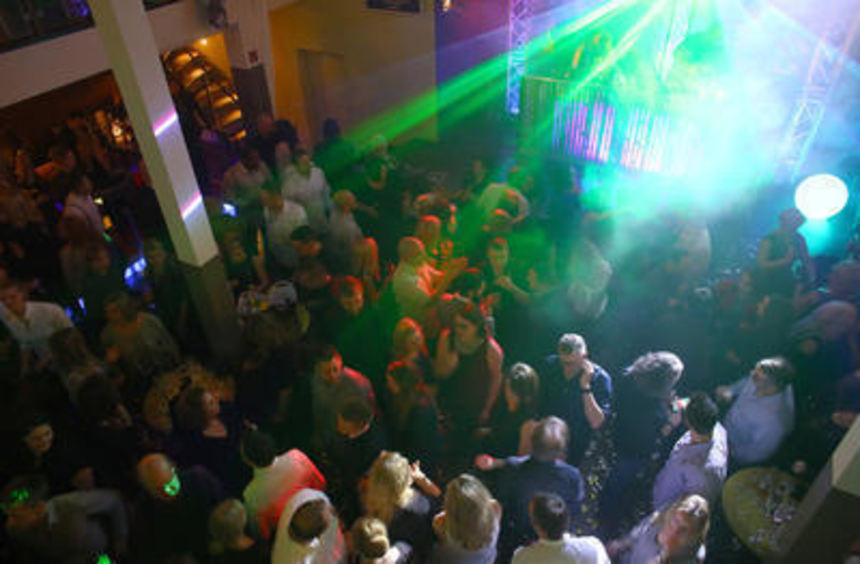 Die Silvesterparty im Blue Tower.