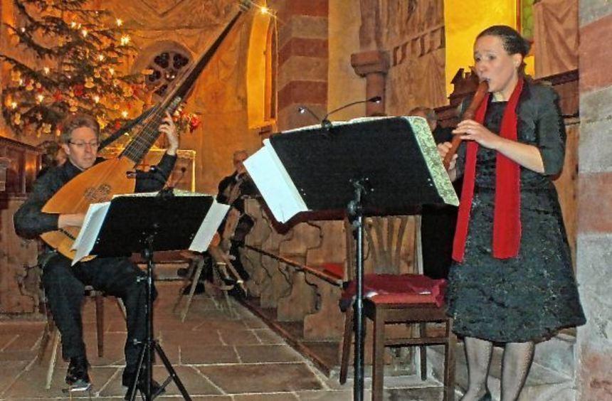 """Das Duo """"La Vigna"""" begeisterte bei der 110. Abendmusik in der Urpharer Jakobskirche mit seiner ..."""