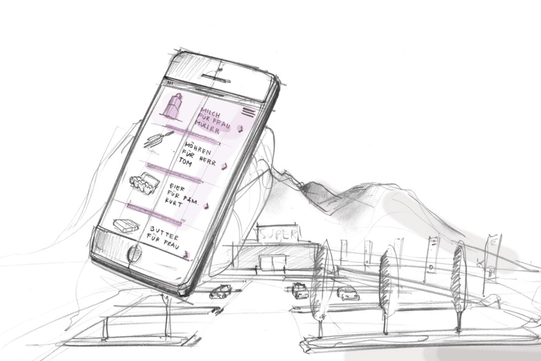 """mid Groß-Gerau - Mittels App können Nutzer der Sharing-Lösung """"AMiCUS"""" Besorgungen von anderen erledigen lassen - und so helfen, den Verkehr vor allem auf dem Land zu reduzieren."""