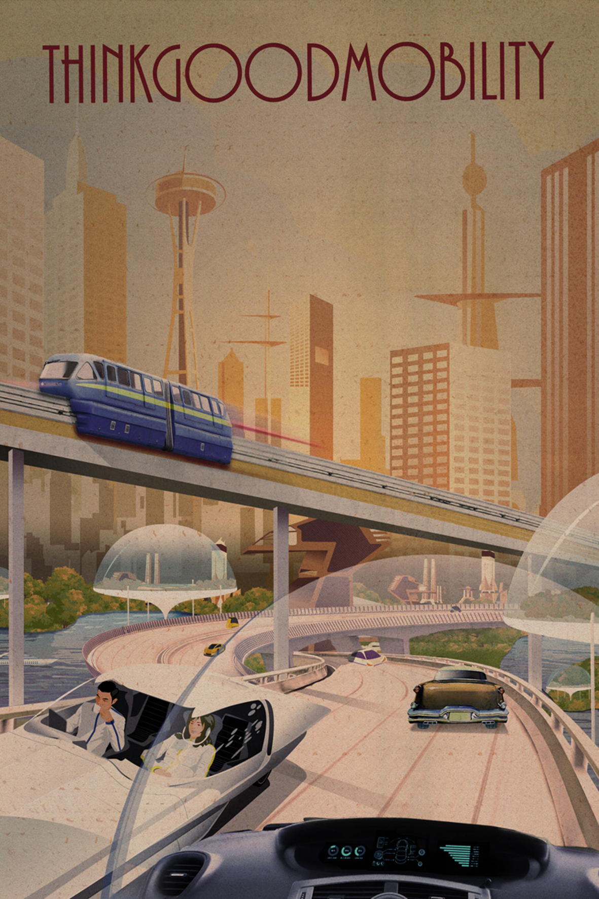 """mid München - Die Studie """"ThinkGoodMobility"""" stellt dar, wie die Menschen in Europa und besonders in Deutschland zur künftigen autonomen Mobilität stehen."""
