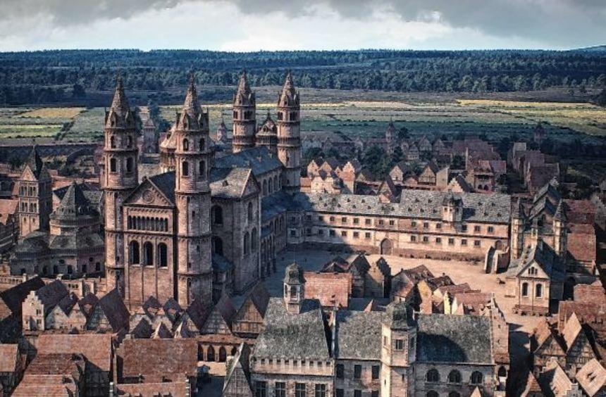 Eintauchen ins frühe 16. Jahrhundert: Baulichkeiten wie der Wormser Bischofshof sind im ...
