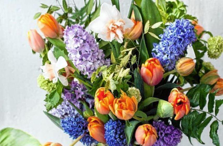 Tulpen wachsen auch noch in der Vase weiter.