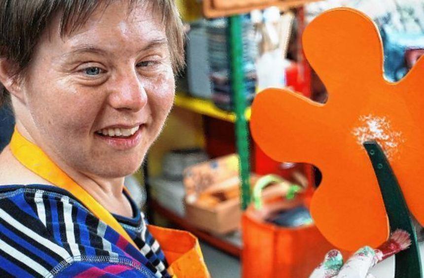 Kathrin Taufertshöfer ist eine aktive Mitarbeiterin der Behindertenhilfe Bergstraße.