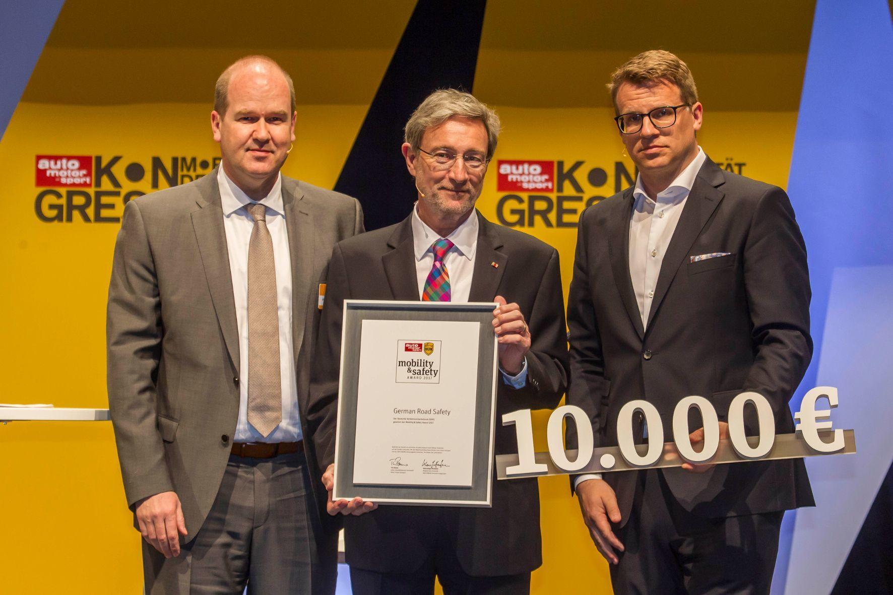 """mid Groß-Gerau - Der gemeinsame Verkehrssicherheitspreis von """"auto motor und sport"""" und HUK-COBURG geht in diesem Jahr an die Initiative """"German Road Safety"""" des Deutschen Verkehrssicherheitsrats."""