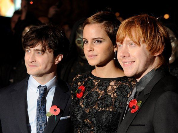 Die Hauptdarsteller des Harry-Potter-Films am Abend der Premiere in London.