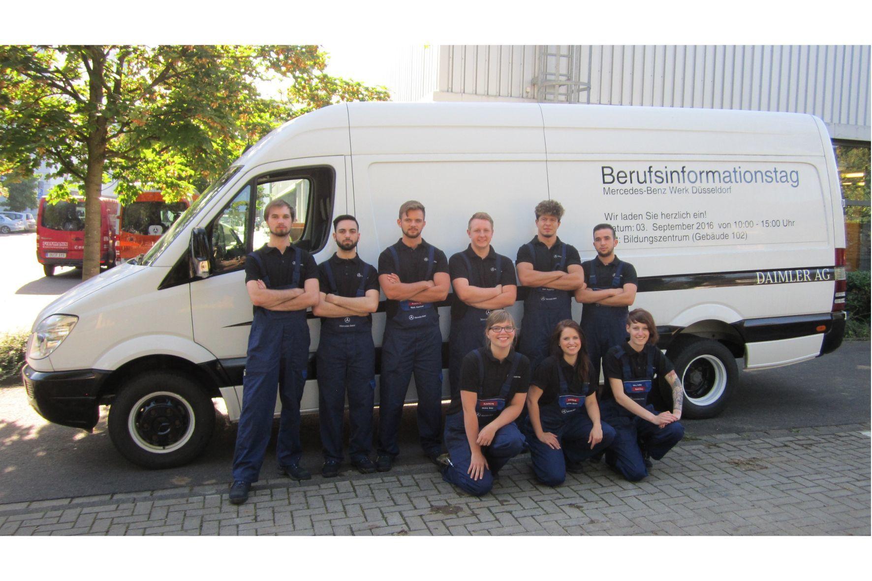 mid Groß-Gerau - Die Auszubildenden des Mercedes-Benz Werks Düsseldorf freuen sich bereits auf den Berufsinformations- und Bewerbertag.
