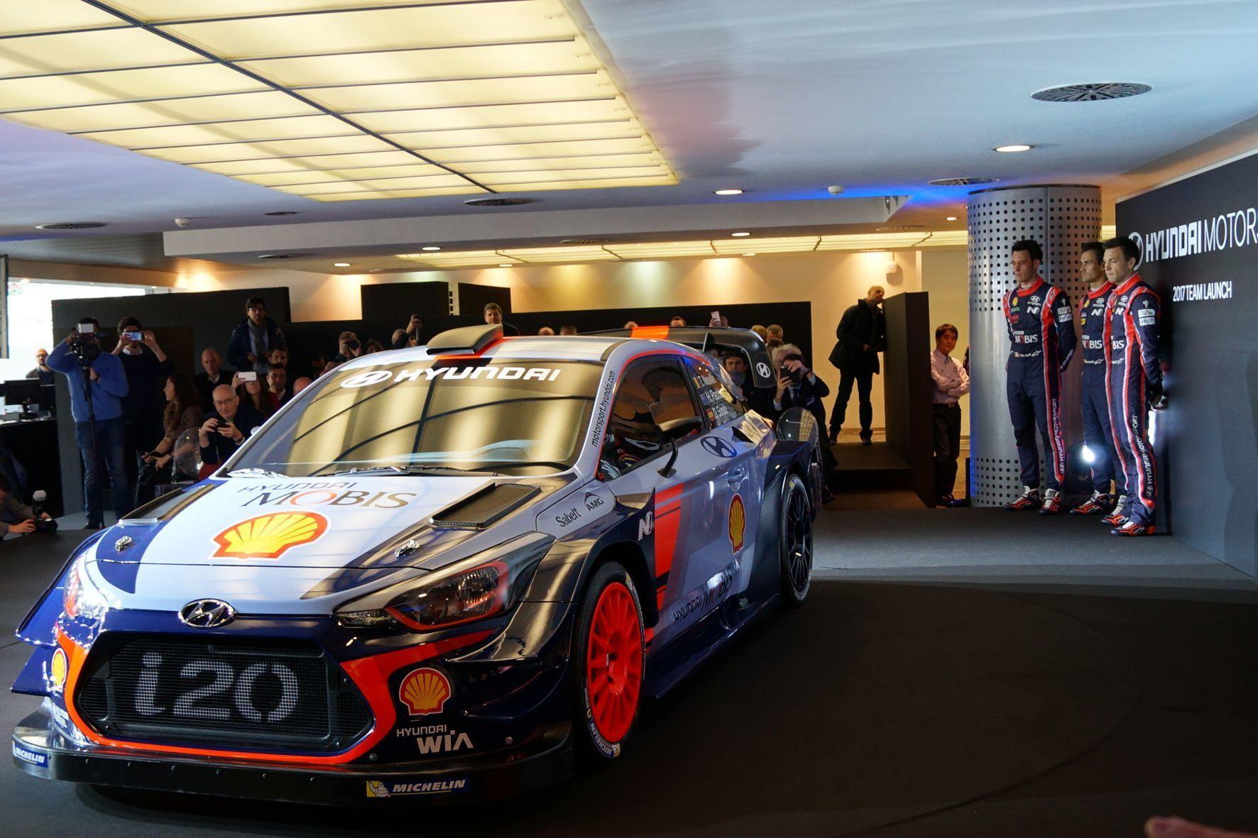 mid Monza - Mit dem i20 WRC will Hyundai in der Rallye-Weltmeisterschaft 2017 um den Titel kämpfen.