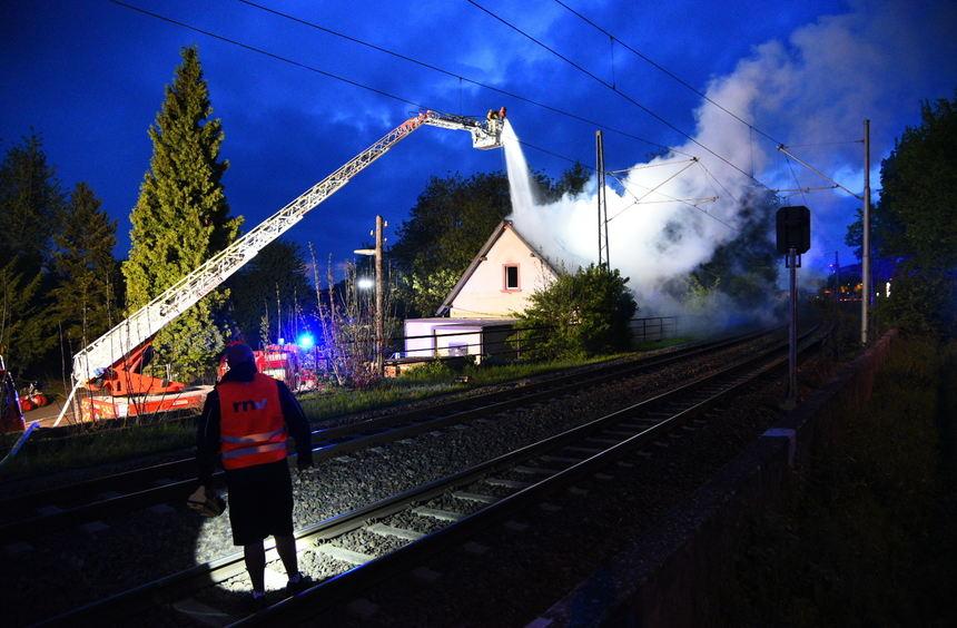 Brand auf Campingplatz Neuostheim