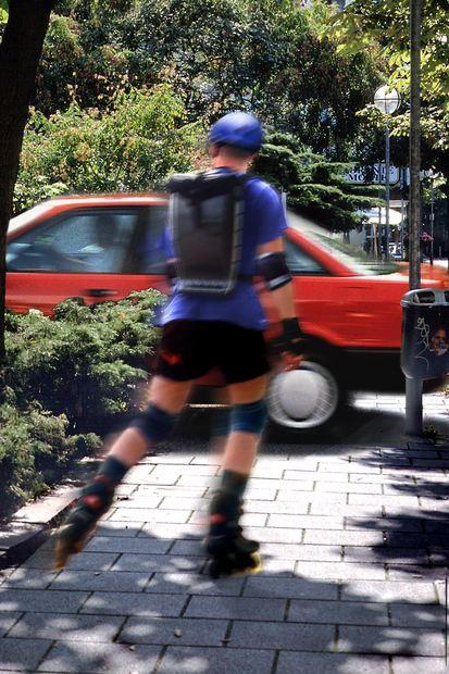 mid Groß-Gerau - Inlineskater sind auf dem Weg zur Arbeit gesetzlich unfallversichert - aber nur, ...