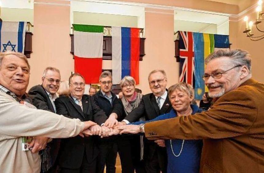 Europa mit israelischer Erweiterung: Beim Neujahrsempfang der Freundeskreise der Partnerstädte ...