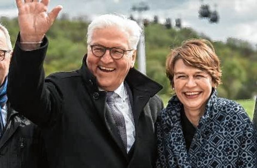 Präsident Frank-Walter Steinmeier und seine Frau Elke Büdenbender.