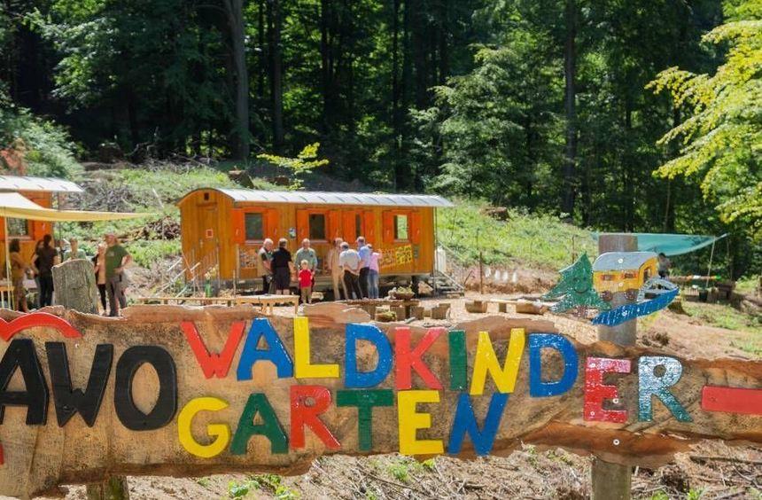 Waldkindergärten gibt es schon einige funktionierende entlang der Bergstraße, so wie diesen der AWO ...