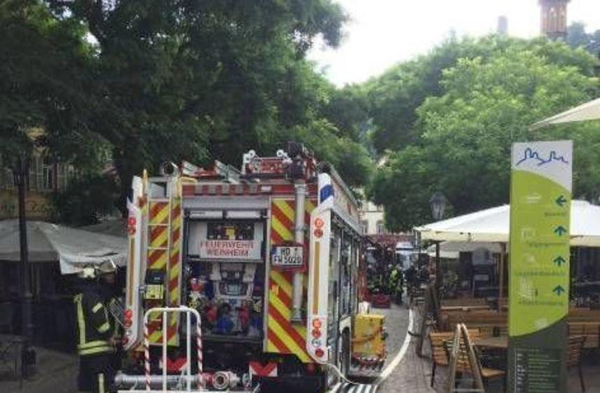 Ein Hotel am Marktplatz in Weinheim wurde geräumt.