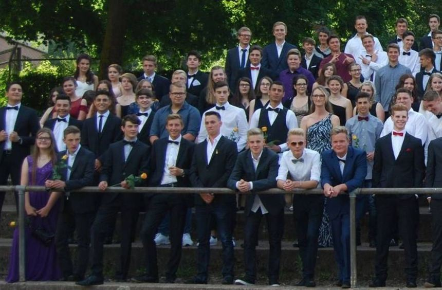 Die Absolventen der Comenius-Realschule.