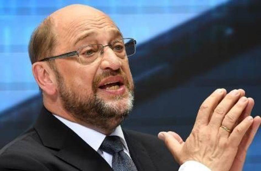 Martin Schulz (SPD) bei der Präsentation seines Zukunftsplans.