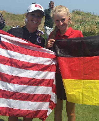 """Eine schöne Erinnerung an die """"Deaflympics 2017"""": Amelie (r.) mit der Siegerin aus den USA, Kaylin ..."""