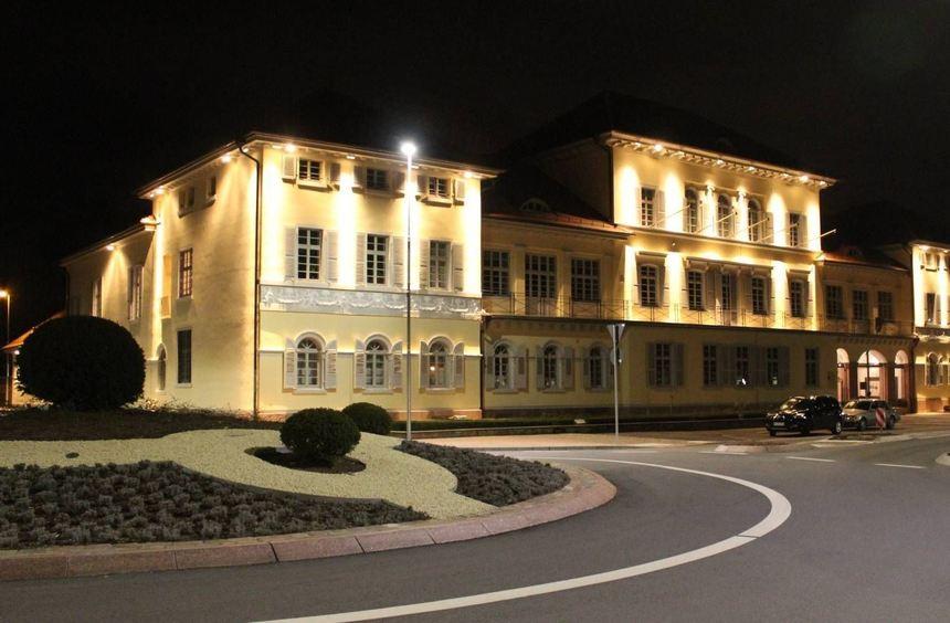 Ein Vorbild für umweltfreundliche Beleuchtung: das Schloss in Neckarhausen (Rhein-Neckar-Kreis).