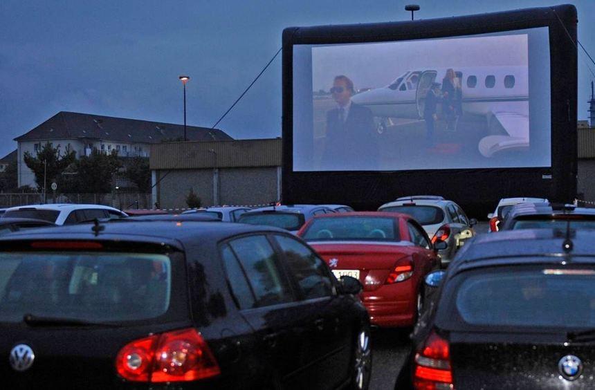 Kino vom Autositz aus erleben: Au dem Franklin Field war das am Wochenende noch einmal möglich.