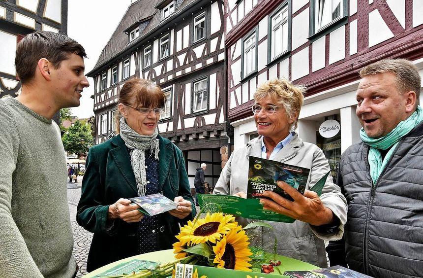 Die Grünen hatten am Samstag zur ersten Nachhaltigkeitsmesse in Bensheim eingeladen. Unser Bild ...