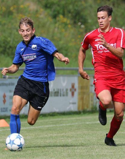 Felix Gutsche (links) erzielte im WFV-Pokalspiel gegen den SV Salamander Kornwestheim den ...
