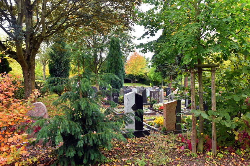 Der Friedhof in Sinsheim-Hilsbach.