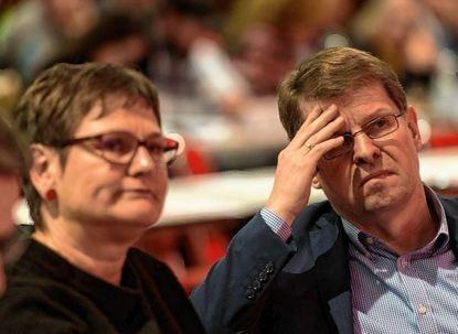 Schwierige Debatten: Leni Breymaier, die baden-württembergische SPD-Vorsitzende, und Ralf Stegner, ...