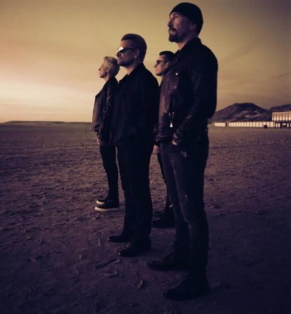 U2 (v.l.): Adam Clayton, Bono, Larry Mullen Jr. und The Edge.