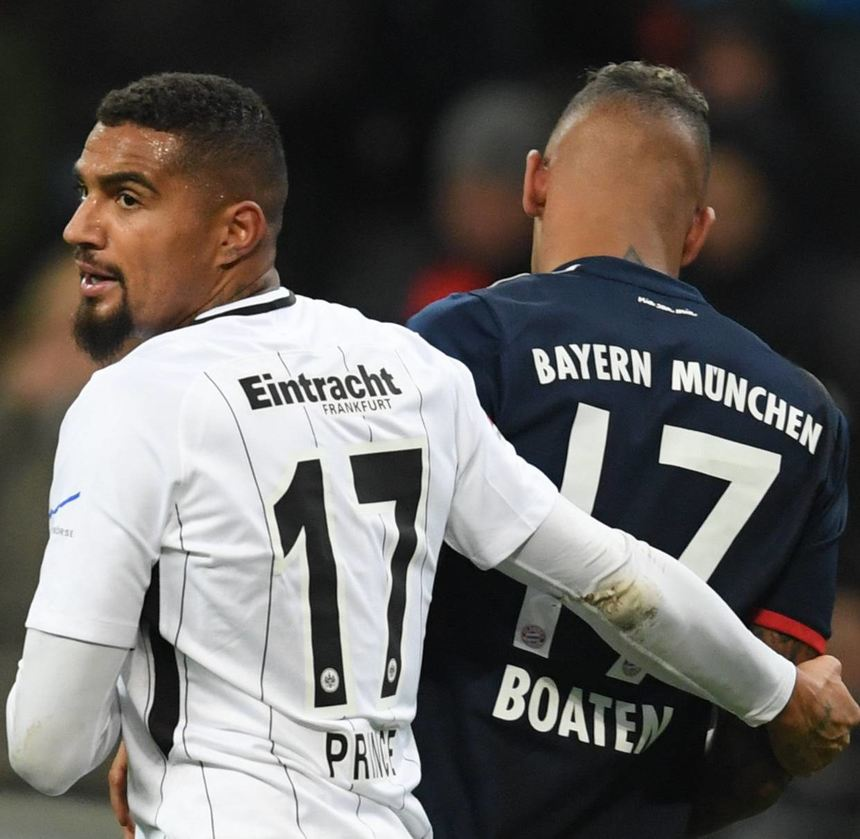 Obwohl der Sieg an Jerome Boatengs FC Bayern ging, fühlte sich Kevin-Prince Boateng (links) als ...