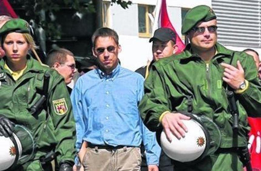 Ralf Wohlleben bei einer Demonstration in Jena im August 2007.