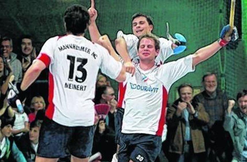 Jubeln will der MHC auch nach dem Spitzenspiel gegen Frankfurt.