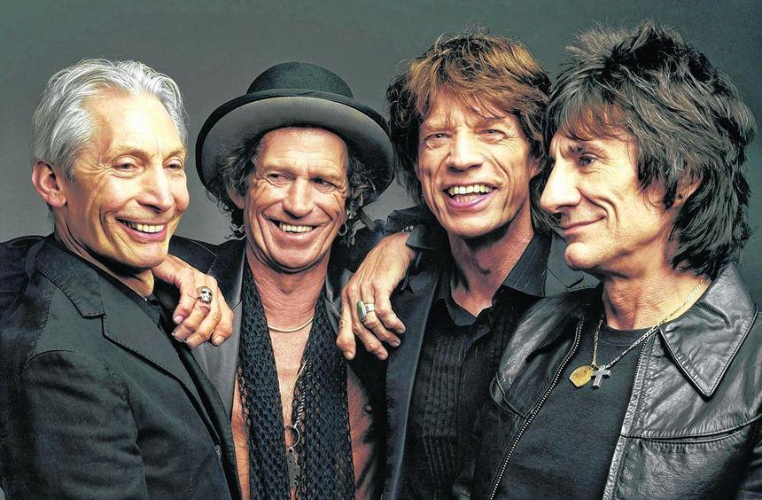Vier gegen den Rest der Welt (v. l.): Charlie Watts, Keith Richards, Mick Jagger und Ron Wood - die ...