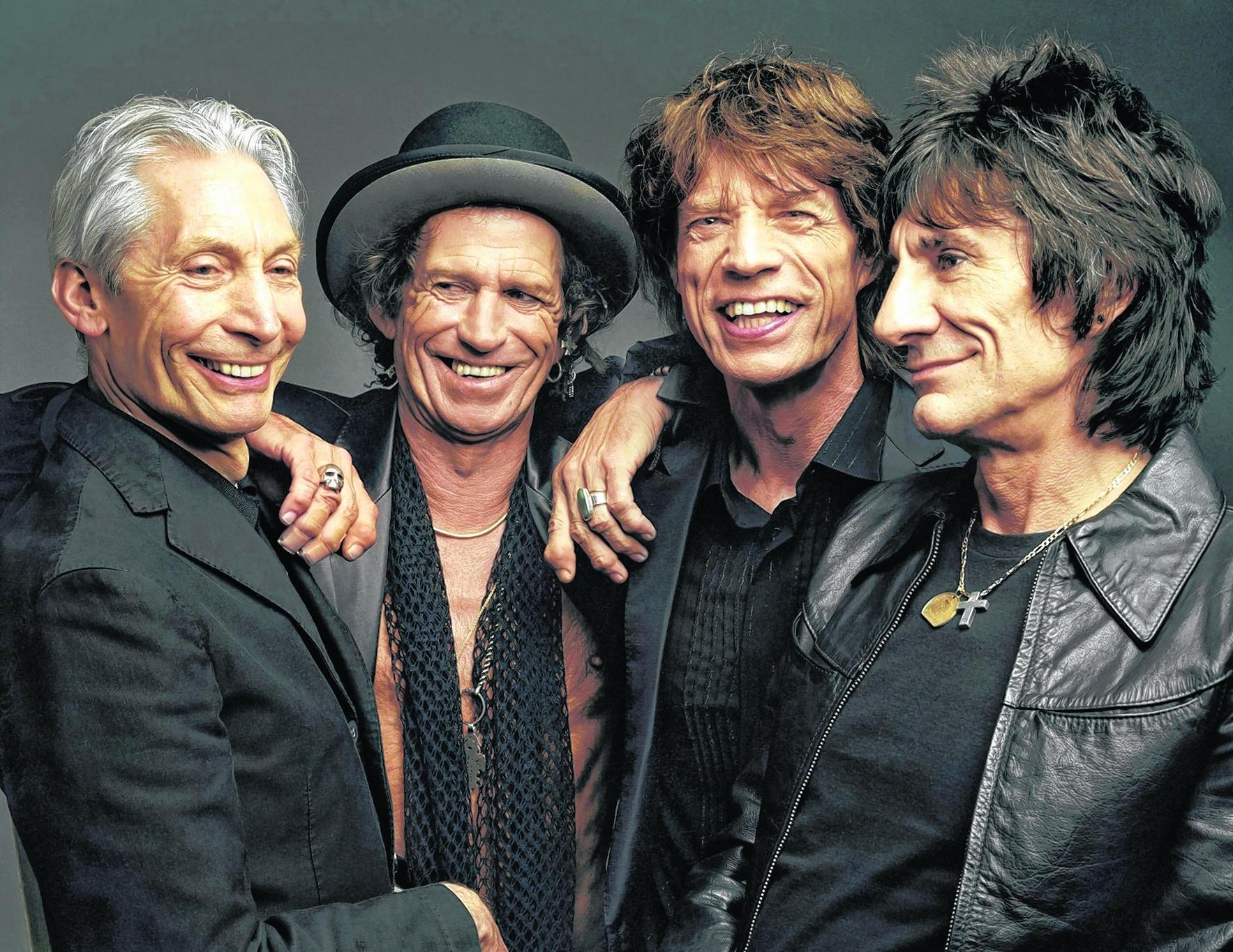 Vier gegen den Rest der Welt (v. l.): Charlie Watts, Keith Richards, Mick Jagger und Ron Wood – die Rolling Stones.