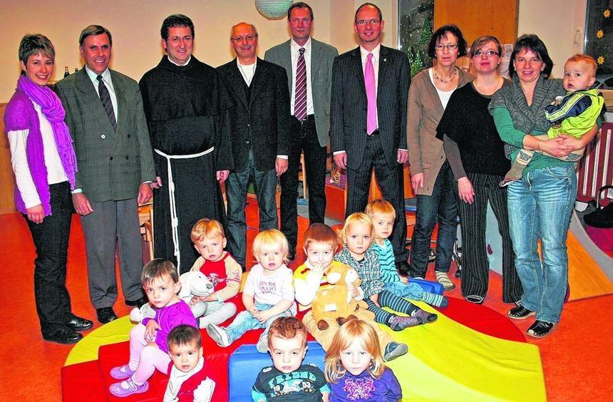 Im Kindergarten St. Georg wurden die Räume für die zweite Krippengruppe eingeweiht.