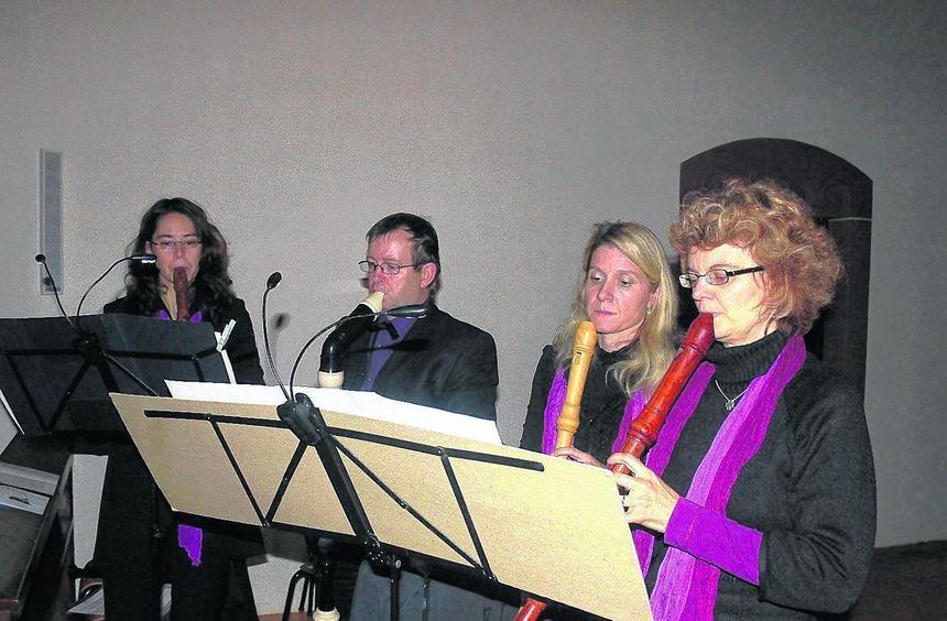 """Das vierköpfige Flötenensemble """"Tauberflöten"""" zählte zu den Mitwirkenden der ..."""