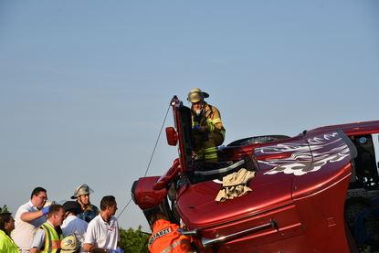 Ein Hubschrauber war im Einsatz.